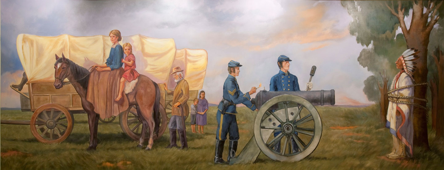 university of idaho officials consider removing lynching mural in reminds me of these murals in pawnee