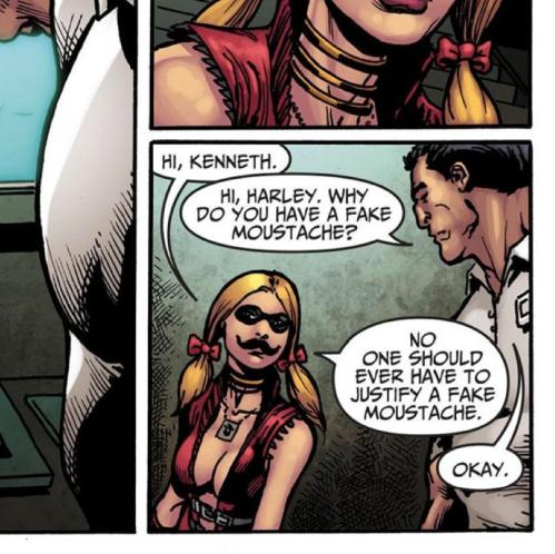 injustice harley mustache